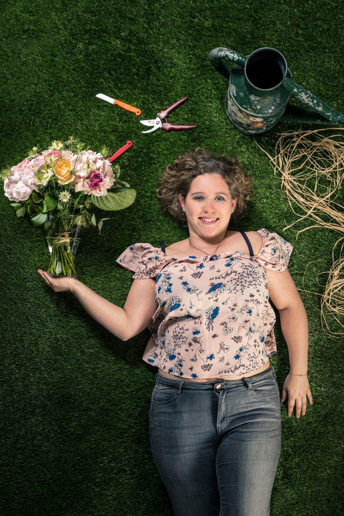 Photographe Lyon Villeurbanne - portrait professionnel artisan commerçant entreprise - Sabrina Chaffard - Couleurs de Fleurs - Gratte-Ciel