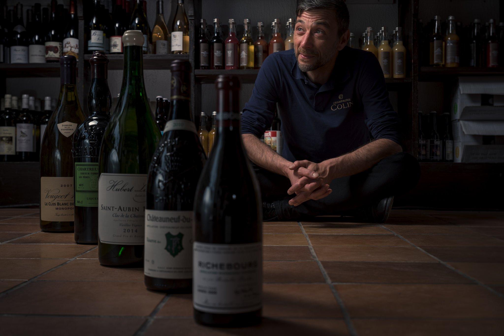 Photographe Lyon Villeurbanne - portrait professionnel artisan commerçant entreprise - Jean-François Bernard - La Cave des Gratte Ciel - Gratte-Ciel