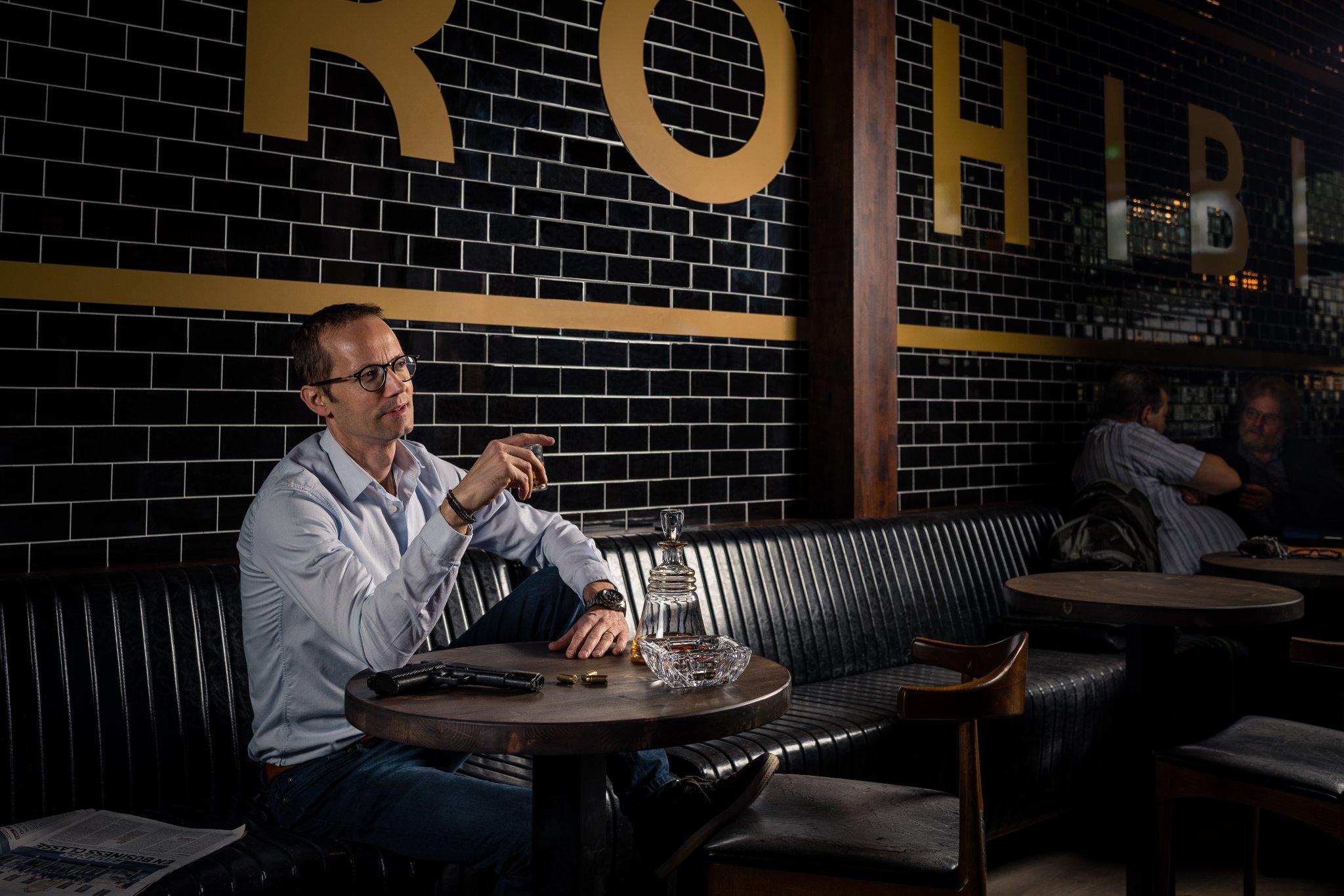 Photographe Lyon Villeurbanne - Portrait entreprise Sébastien Escalier - Le Loop's Pub - Gratte-Ciel artisan commerçant